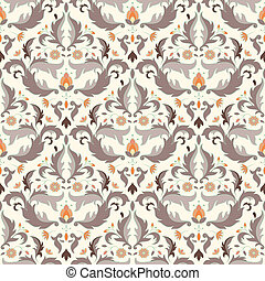 Antique seamless pattern - Floral seamless pattern EPS 8...