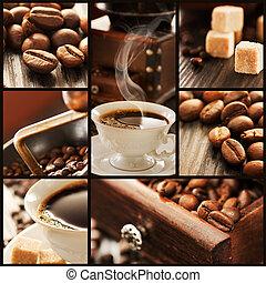Prosciutto sandwich collage - Collage of prosciutto and...