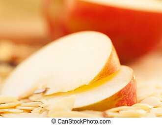 Apple pie slices - Apple pie ingredients Apple slices and...