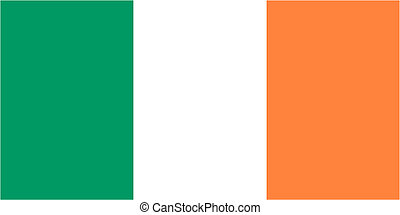 Irish flag icon - isolated vector illustration
