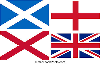 making of the Union Jack flag - England, Scotland and Wales...