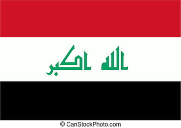 Iraqi flag and language icon - isolated vector illustration