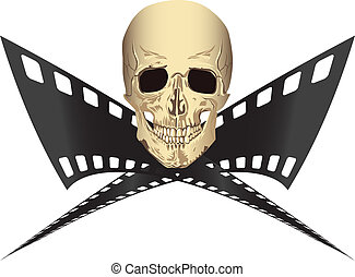 Pirated movie - film piracy copy criminal cyberspace