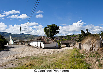 Old farm village in the Andean highlands