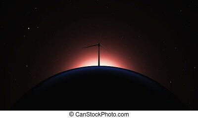 planet and wind-generated electric