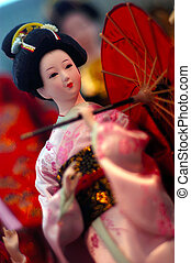Travel Photos China - Hong Kong - Chinese doll on display in...