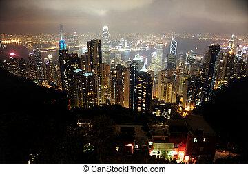 Travel Photos China - Hong Kong - Hong kong skyline...