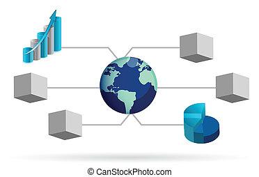 box diagram illustration design
