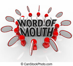 Word of Mouth Speech Bubble People Discussion - Several...