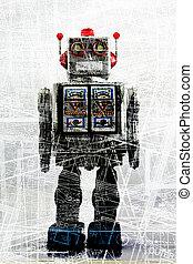 robot - abstract robot concept