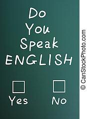 Do you speak English check boxes - Do you speak English -...