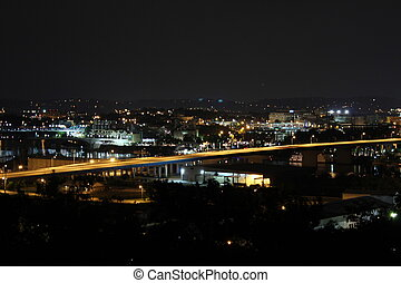 Downtown Chattanooga TN - Night shot of downtown chattanooga...