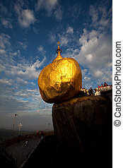 Golden rock - Golden Rock stupa in Myanmar