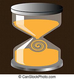 Decorative hourglass figure