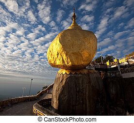 Golden Rock stupa in Myanmar