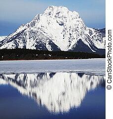 High mountains lake