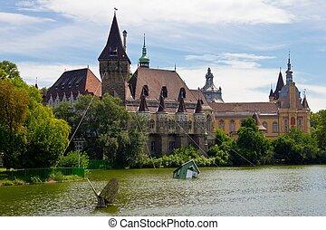 Vajdahunyad Castle - The Vajdahunyad Castle in Budapest main...