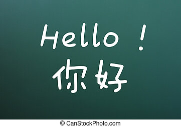 Hello with Chinese characters