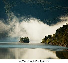 Lake in Norway - mountains lake