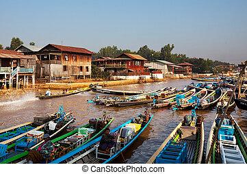 Inle lake - Boat on Inle Lake,Myanmar