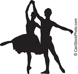 Ballet dancers - Silhouettes of ballet dancers