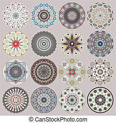 Ornamental circles decors