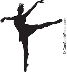 Ballerina - Silhouette of ballerina