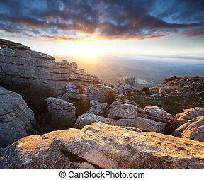 Mountains in Spain - Mountains Sierra Del Torcal in Spain