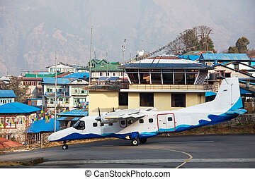 Lukla - aircraft in Lukla airport