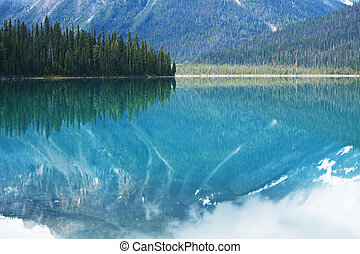 Mountain lake in Canada