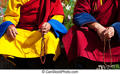 Monks in Mongolia