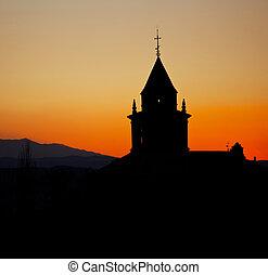 monasterio, silueta