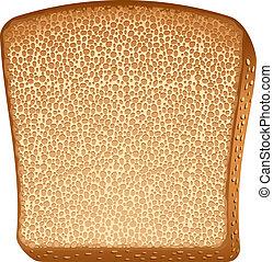 トースト, 上に, 白