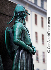 Monument in Bergen - Sailor's Monument, Bergen, Norway
