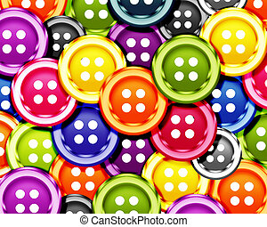 Cloth bottons - Set of cloth buttons background