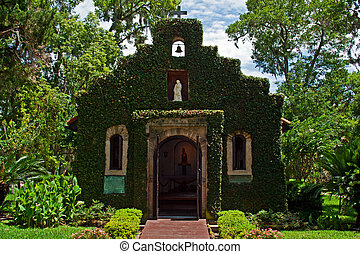 Historic Church St Augustine - Historic ivy covered church...