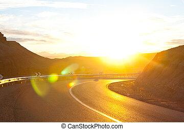 Road - road in fields