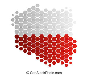 Map and flag of Poland