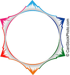 Mountains in circle - Mountains and valleys forming a circle...