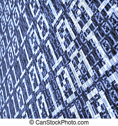 binary layer abstract composition
