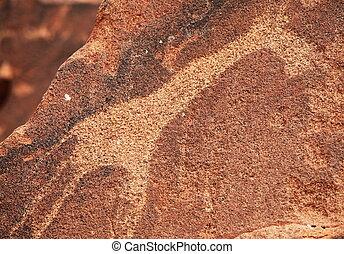 Petroglyph - hieroglyph texture