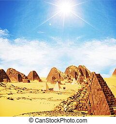 Pyramids in Sudan - Meroe pyramids in Sudan