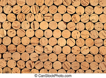 Wine cork background - Background pattern of wine bottles...