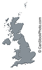 Map of United Kingdom - Political map of United Kingdom with...