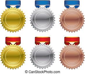 Award medals - Gold Silver Bronze Award Medals