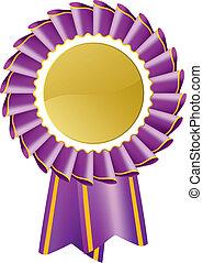 Purple Rosette - Award rosette medal