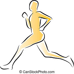 Runner - Athlete running - vector illustration