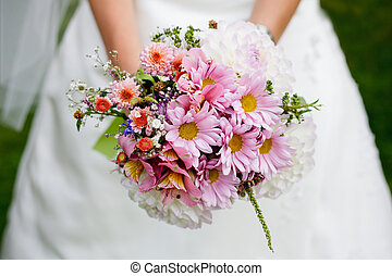 Wedding bouquet with dill - The bride with a wedding bouquet...