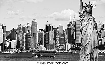 new york city black and white hi contrast