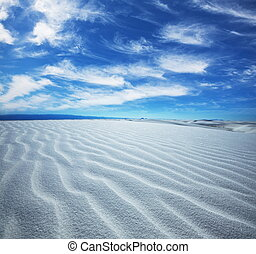 White desert - White Sands Park in USA